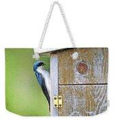 Tree Swallow At Nesting Box Weekender Tote Bag