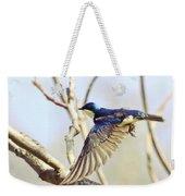 Tree Swallow In Flight Weekender Tote Bag