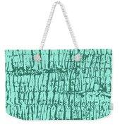 Tree Texture Turquoise Weekender Tote Bag