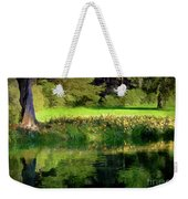 Tree With Lily Reflections Weekender Tote Bag