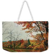 Trees Along The Canal Weekender Tote Bag