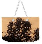 Trees And Geese In Sepia Tone Weekender Tote Bag