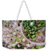 Trees And Path From Above Drone Photography Weekender Tote Bag