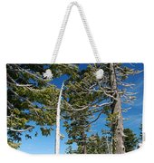 Trees And Snag At Crater Lake Weekender Tote Bag