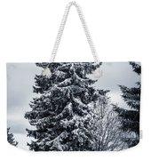 Trees And Snow Weekender Tote Bag