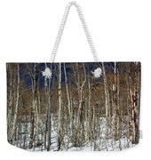 Trees And Something In The Snow Weekender Tote Bag
