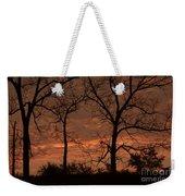 Trees And Sunrise Weekender Tote Bag