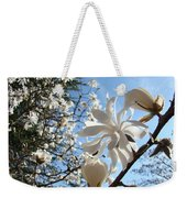 Trees Art Prints White Magnolia Flowers Baslee Troutman Weekender Tote Bag