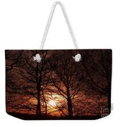 Trees At Sunset Weekender Tote Bag