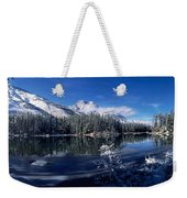 Trees At The Lakeside, Yellowstone Weekender Tote Bag