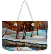 Trees At The Rivers Edge Weekender Tote Bag