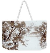Trees By A River Weekender Tote Bag
