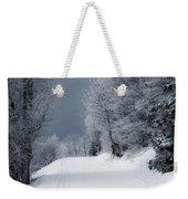 Trees Hills And Snow Weekender Tote Bag