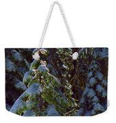 Trees In Deep Snow Making A Ghost Show Weekender Tote Bag