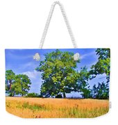 Trees In Field Weekender Tote Bag