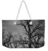 Trees In Storm In Black And White Weekender Tote Bag