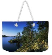 Trees On An Island In A Lake, Lake Weekender Tote Bag
