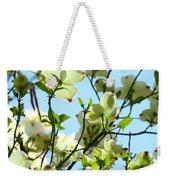 Trees White Dogwood Flowers 9 Blue Sky Landscape Art Prints Weekender Tote Bag