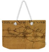 Trenton New Brunswick Turnpike 1800 Weekender Tote Bag