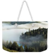 Trestle In Fog Weekender Tote Bag