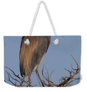 Tri Color Heron Weekender Tote Bag