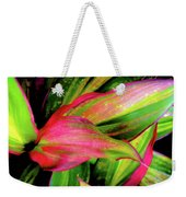 Tri-color Leaves Weekender Tote Bag