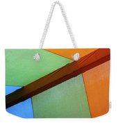 Tri Color Minimal  Weekender Tote Bag