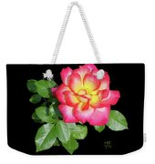 Tri-color Pink Rose2 Cutout Weekender Tote Bag