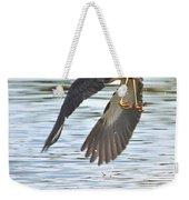 Tri Colored Heron Over The Pond Weekender Tote Bag