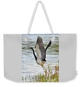 Tri Colored Heron Takeoff Weekender Tote Bag