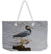 Tri-colored Heron Wading In The Marsh Weekender Tote Bag