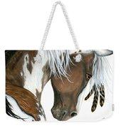 Tri Colored Pinto Horse Weekender Tote Bag
