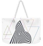 Triangle Op Art Weekender Tote Bag