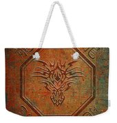 Tribal Dragon Head In Octagon With Dragon Chinese Characters Distressed Finish Weekender Tote Bag