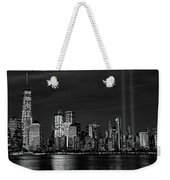 Tribute In Light  # 7 - B  And  W Weekender Tote Bag