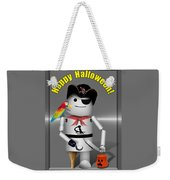 Trick Or Treat Time For Robo-x9 Weekender Tote Bag