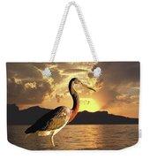 Tricolored Heron At Sunset Weekender Tote Bag