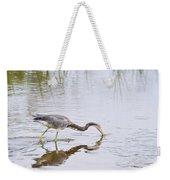 Tricolored Heron Grabs A Bite Weekender Tote Bag