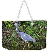 Tricolored Heron Hunting Weekender Tote Bag