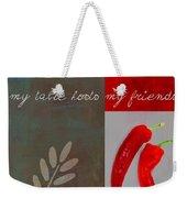 Trilioli Kitchen Decor - Red 153z Weekender Tote Bag