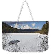 Lone Wolf Weekender Tote Bag