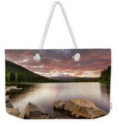 Trillium Lake Sunset Weekender Tote Bag