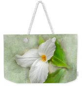 Trillium Wildflower  Weekender Tote Bag