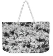 Trilliums On The Forest Floor Bw Weekender Tote Bag