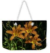 Trio Of Orange Tiger Lilies Weekender Tote Bag