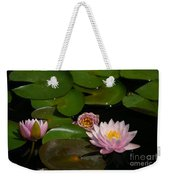 Trio Of Pink Lotus Waterlilies Weekender Tote Bag