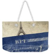 Trip To Paris Square Pillow Size Weekender Tote Bag