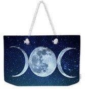 Triple Moon Milkyway Weekender Tote Bag