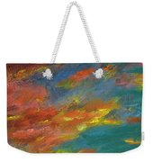 Triptych 1 Desert Sunset Weekender Tote Bag