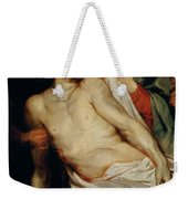 Triptych Of Christ On The Straw Weekender Tote Bag